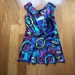 Ali Ro Silk-Blend Floral Print Mini Dress
